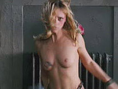 Christina Ricci whipping off shirt to go topless