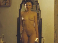 Emily Browning nude boobs bush and booty