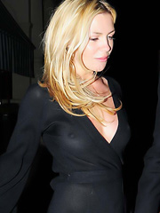 Abigail Clancy upskirt in see thru dress