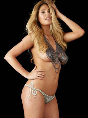 Kate Upton topless bodypaint photoshoot