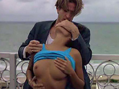 Daphne Duplaix topless sex action in public