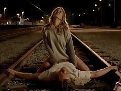 Bojana Novakovic Rides Guy In A Railway In Shameless Series