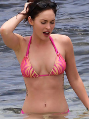 Megan Fox hot hanging out in a bikini
