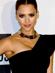 Jessica Alba cleavage in hot tight dress