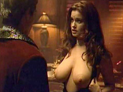 Carrie Stevens large breasts are squeezed
