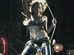 Jessica Alba sexy dance in leather chaps