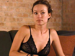 Olivia Wilde looks hot in black lingerie
