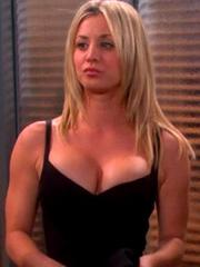 Kaley Cuoco busting out big bang boobs
