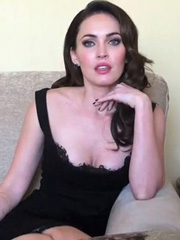 Megan Fox cleavage as she gave sexy interview