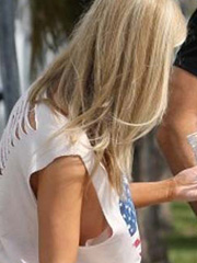 Joanna Krupa shows nice braless sideboob