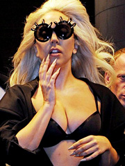 Lady Gaga takes her big amazing breasts out