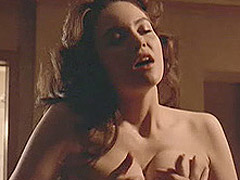 Diane Lane topless while having sex with a guy