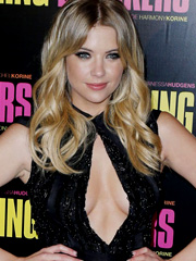 Ashley Benson drops some braless cleavage