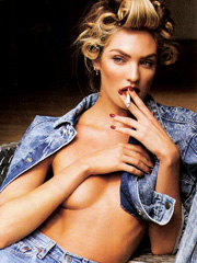 Candice Swanepoel topless for vogue spain