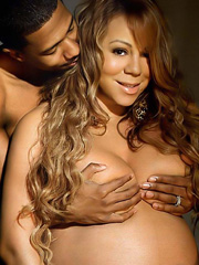 Mariah Carey nude and pregnant poses for magazine