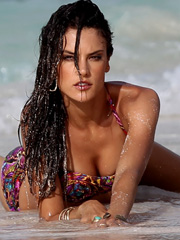 Alessandra Ambrosio hot mom in a bikini