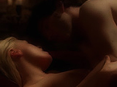 Anna Paquin naked boobs during sex on the bed