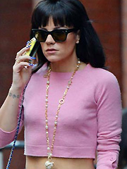 Lily Allen showing her hard nipple pokies