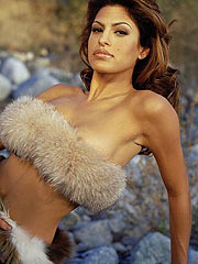 Eva Mendes revealing breasts with hard nipples