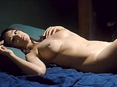 Monica Bellucci naked completely lying in bed