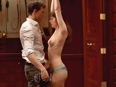 Dakota Johnson Topless Whipping Scene From 'Fifty Shades o...