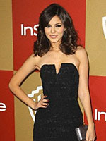 Victoria Justice looks so sweet in little black dress