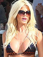 Victoria Silvstedt big breasts in a little bikini